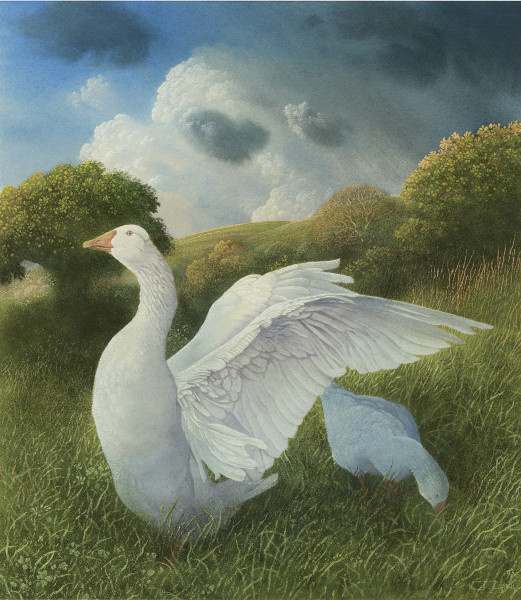 James Lynch, Geese in a Landscape