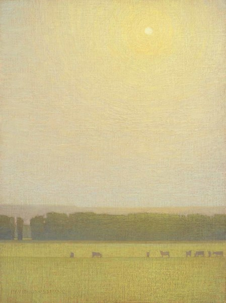 David Grossmann, Grazing Cows with Hovering Sun