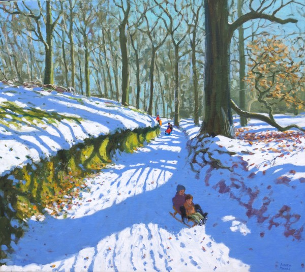 Andrew Macara, Sledging down the Track, Osmaston, Derby