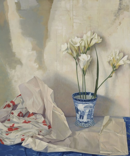 Susan Angharad Williams, Freesias, Poppy Dress and the Adams Cup