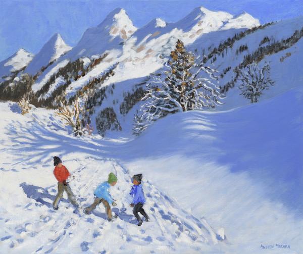 Andrew Macara, Children in the Snow, La Clusaz