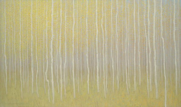 David Grossmann, September Forest with Yellow Leaves