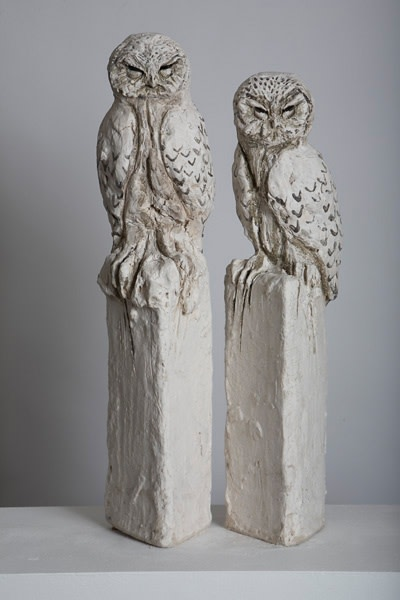 Tanya Brett, Owl I (left) Owl II (right)