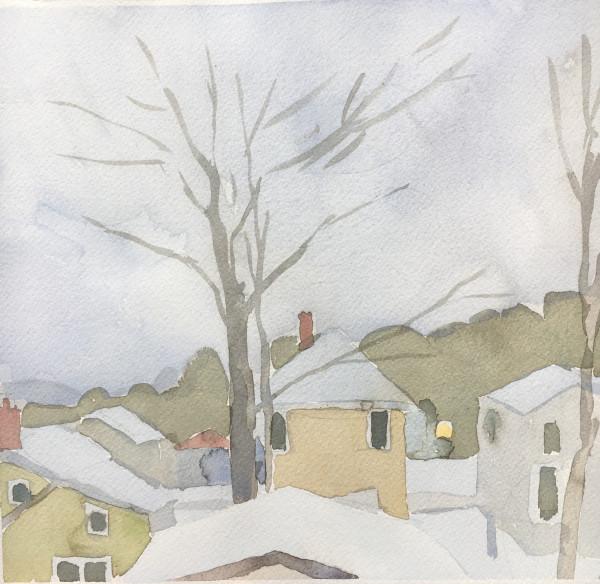 Sara MacCulloch, Winter Rooftops, 2017