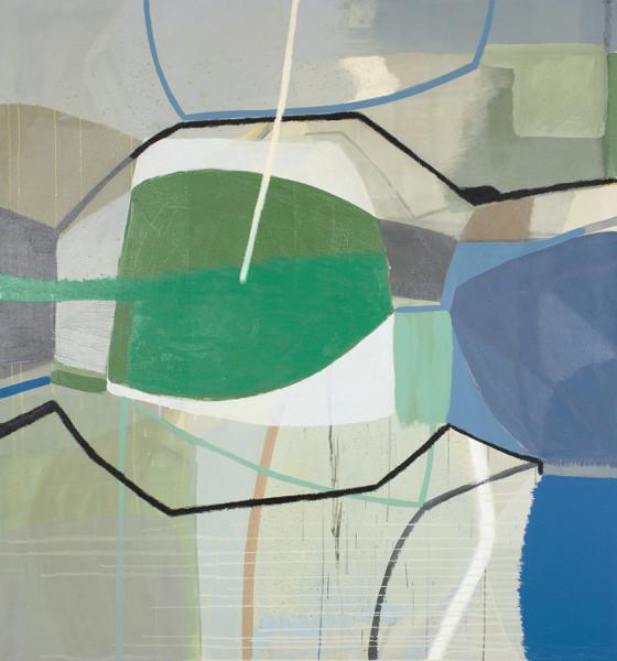 Ky Anderson, Green Split Eye, 2017