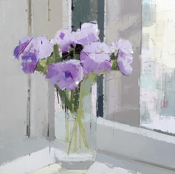 Lisa Breslow, Purple Flowers, 2019