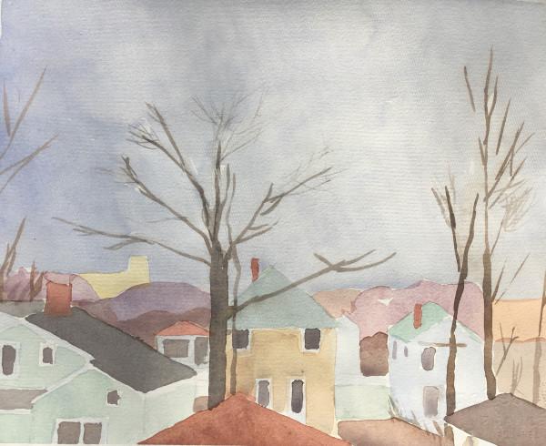 Sara MacCulloch, Fall Rooftops, 2017