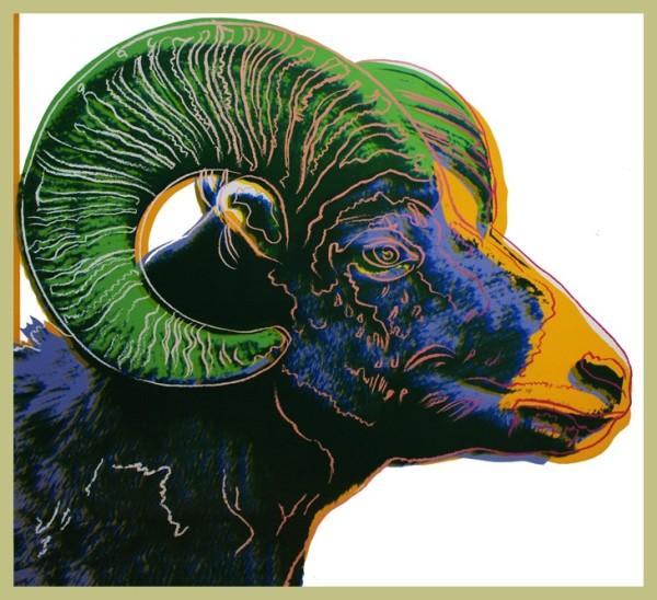 Andy Warhol, Bighorn Ram (from the Endangered Species portfolio), 1983