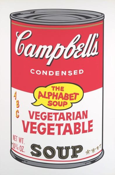 Andy Warhol, Campbell's Soup II: Vegetarian Vegetable, 1969