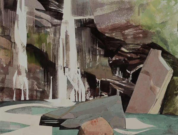 Mariella Bisson, Red Cliff, Blue Pool, Fallen Rocks
