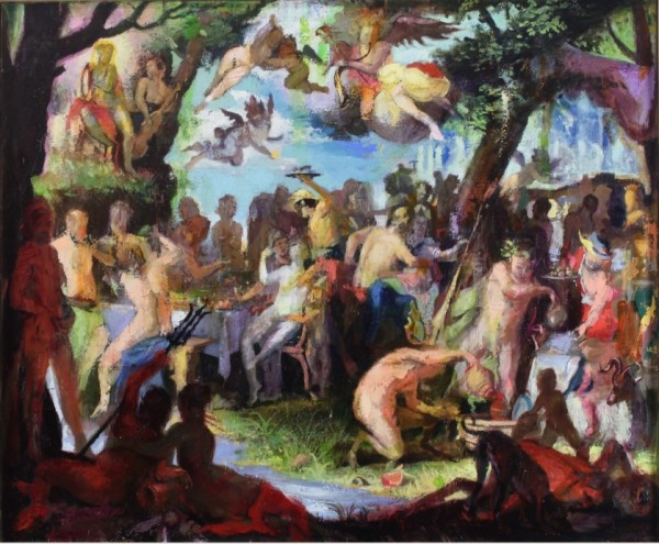 "Paul Sattler, Variation of Wtewael's ""Wedding of Peleus and Thetis"", XI"