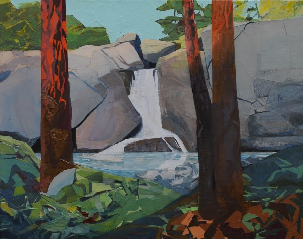 Mariella Bisson, Sunlight, Late Afternoon, Waterfall