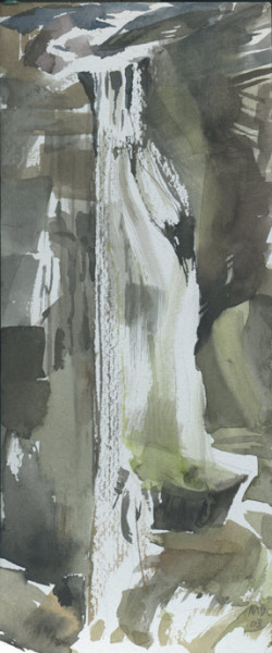 Mariella Bisson, Falls From a Great Height, Field Painting