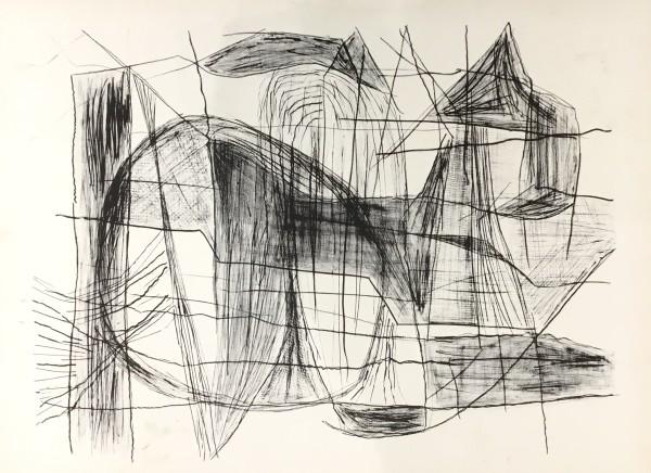 Maltby Sykes (1911 - 1992), Maine Coast, Black & White Sun