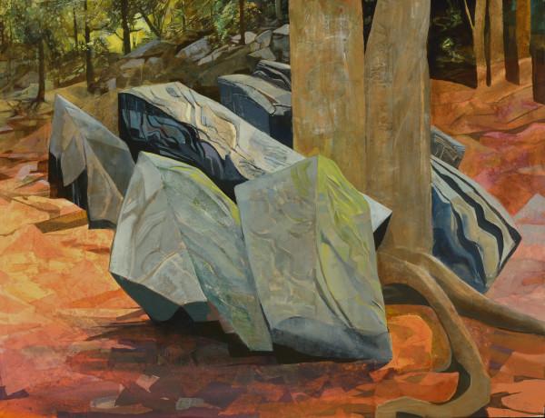 Mariella Bisson, Split Birch, Bluestone