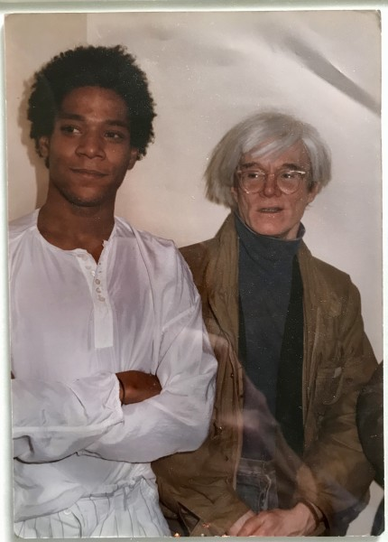 Andy Warhol, Portrait of Andy Warhol & Jean Michel Basquiat, 1982