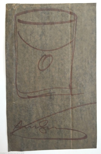 Andy Warhol, LArge soup can drawing., 1980