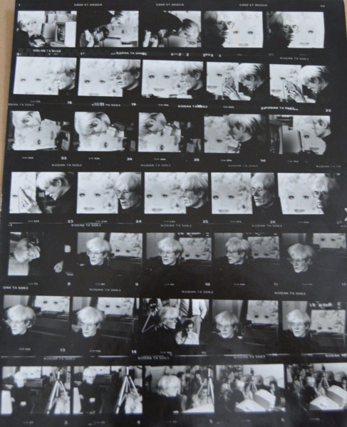 Andy Warhol, Rare collection of never before published portraits and negatives., 1985