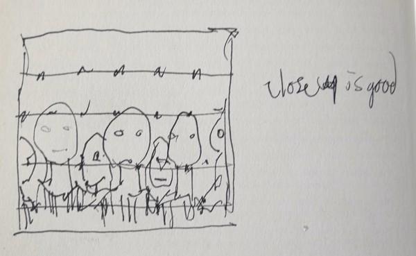 Banksy, Holocaust Drawing (Lipstick Jews)