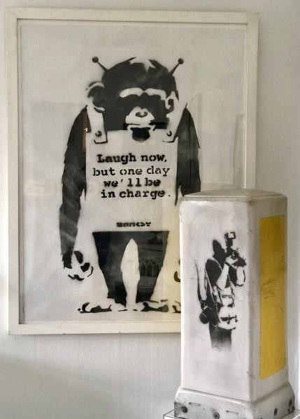 Banksy, Paparazzi Rat - Photographer Rat (on loan for exhibition), 2003/2004