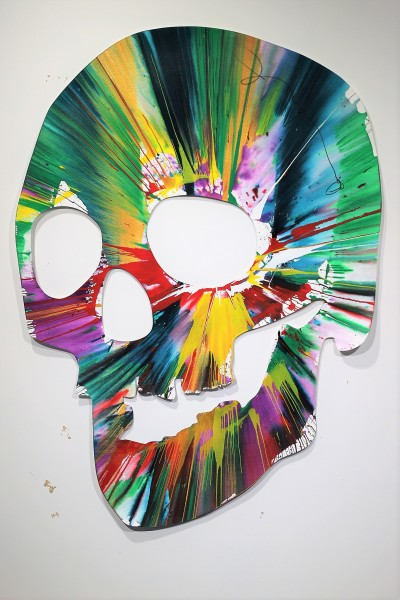 Damien Hirst, Skull Spin Painting SIGNED, 2009