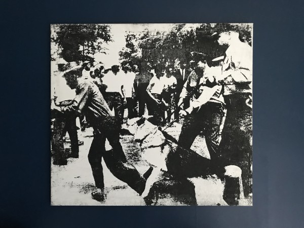Andy Warhol, Little Race Riot, silkscreen ink on canvas. (Not for sale), 1964