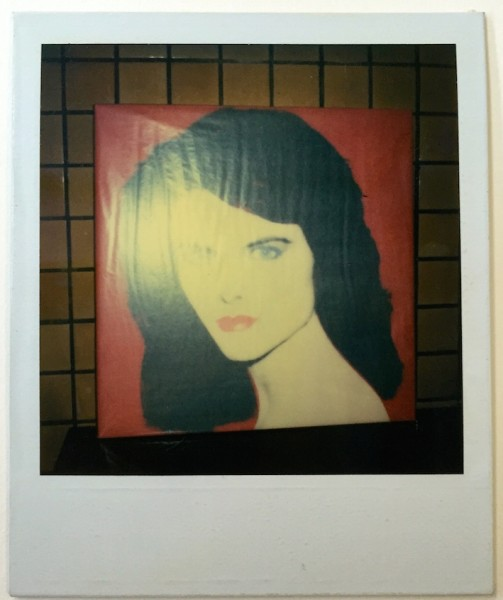 Andy Warhol, Unique polaroid portrait of maria Shriver (Red version), 1985