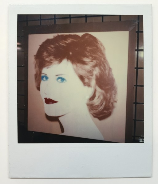 Andy Warhol, Unique polaroid of Jane Fonda painting vers. 1