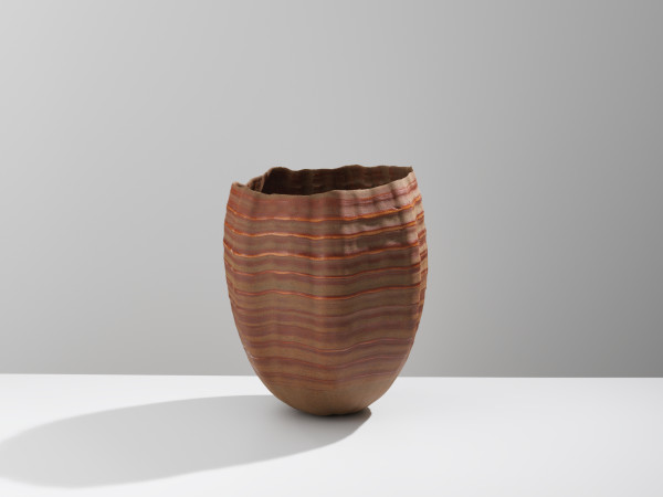 Daniel Fisher, Stoneware, Raw Glazed Vessel, 2018