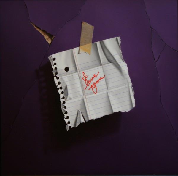 Otto Duecker, I Love You (purple)