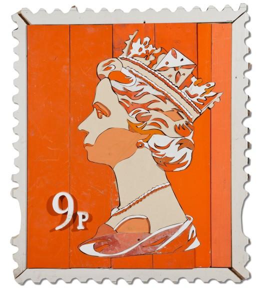 Diederick Kraaijeveld, 9p Queen Stamp