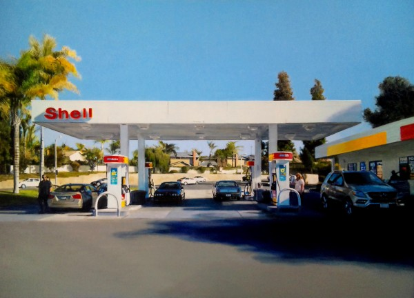 Romain E., Shell station in Orange County