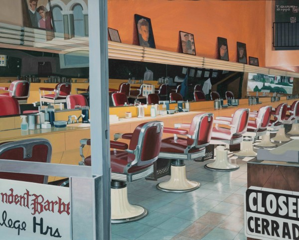 Tad Suzuki, Barbershop at Sunset, 1998 (San Diego)