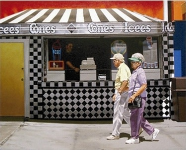 Ralph Goings, Cones and Ices, 2002