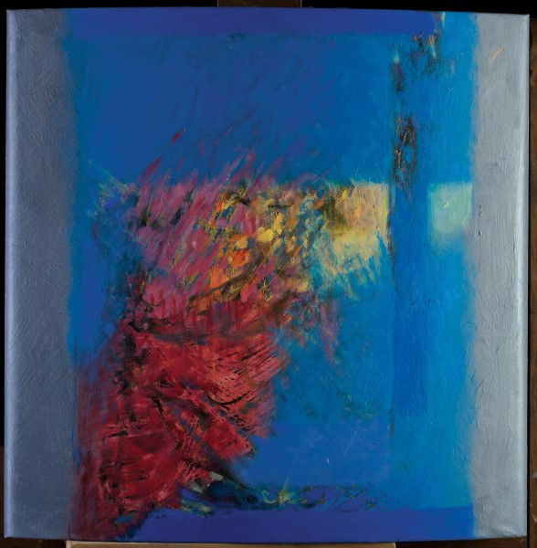 Rashid Al Khalifa, Fusion of Hues in Blue, Crimson and Yellow I, 2003