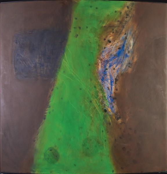 Rashid Al Khalifa, A Fusion of Hues in Green, Blue and Umber, 2001