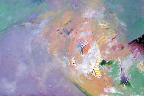 Rashid Al Khalifa, Abstract Figurative III, 1989