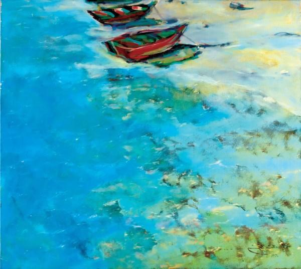 Rashid Al Khalifa, Boats at Sitra Coast, 1983