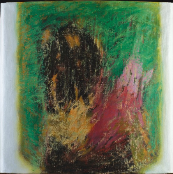Rashid Al Khalifa, Fusion of Hues in Green, Crimson and Umber, 2003