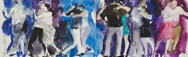John Short, Sketchbook - Tango Argentino (study with red), Musee Fabre, Montpellier, France