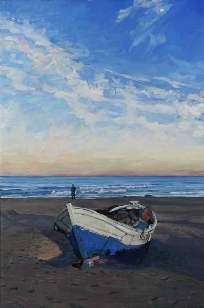 Hector McDonnell RUA, Fishing Boat on Beach, Valencia