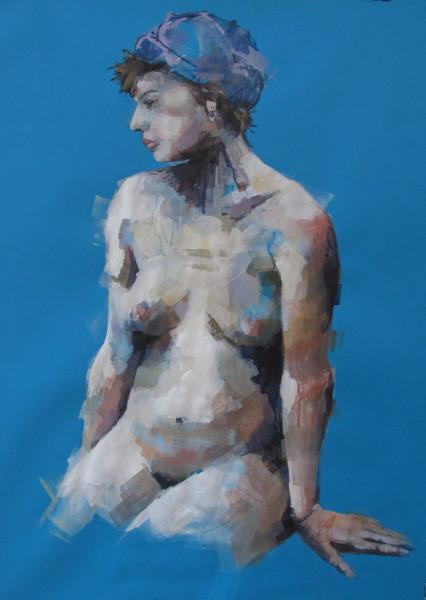 Bridget Flinn, Blue Nude II