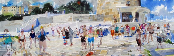 John Short, Bathing Scene, Seapoint, Co. Dublin, 2017