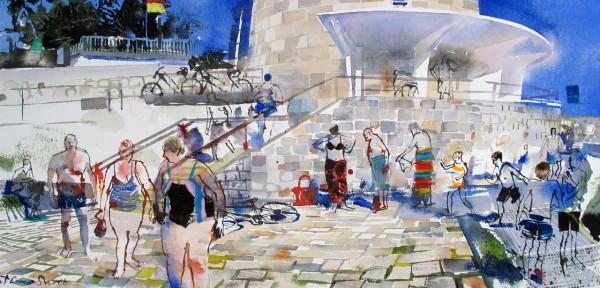 John Short, Seapoint Bathing scene with Ultramarine