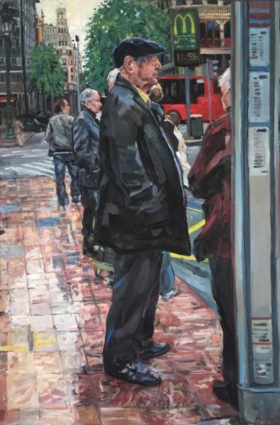 Hector McDonnell RUA, Man at Bus Stop, Valencia