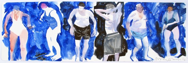 John Short, Sketchbook - Bathers, Sandycove, County Dublin