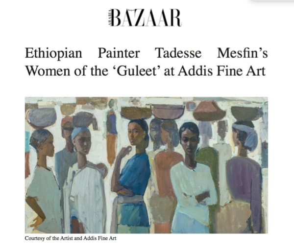 Ethiopian Painter Tadesse Mesfin's Women of the 'Guleet' at Addis Fine Art Image