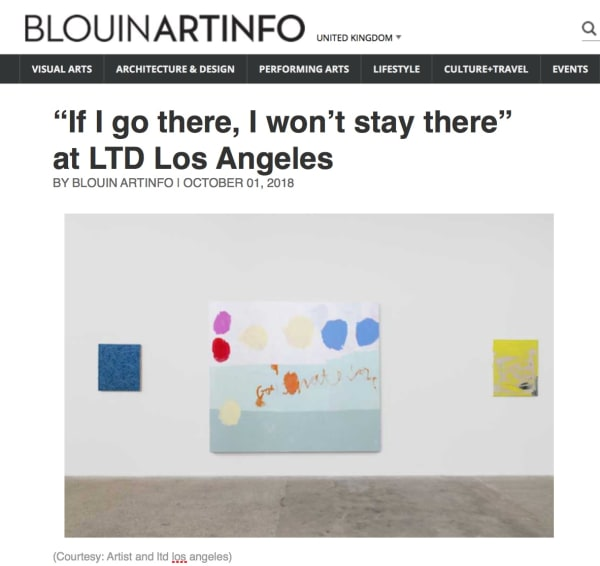 """If I go there, I won't stay there"" at LTD Los Angeles Image"