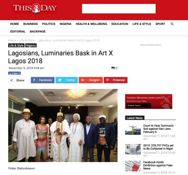 Lagosians, Luminaries Bask in Art X Lagos | Main Image
