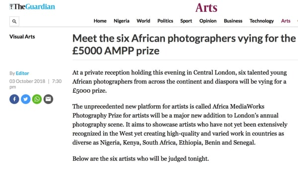 Meet the six African photographers vying for the £5000 AMPP prize | Main Image